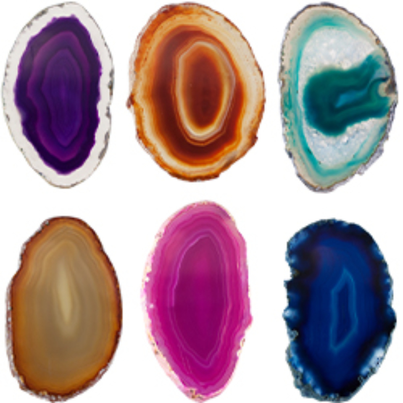 AGATE SLICED ASSORTED  POLISHED
