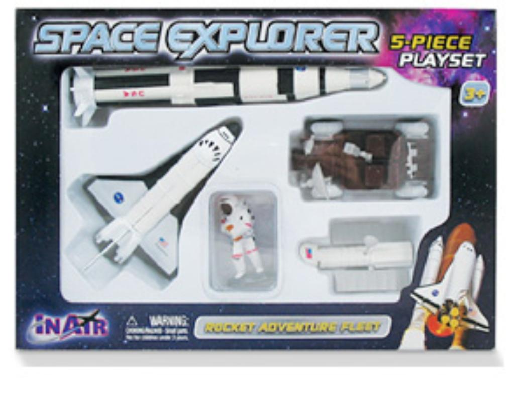 SPACE EXPLORER ROCKET  ADVENTURE FLEET PLAYSET,INSP5