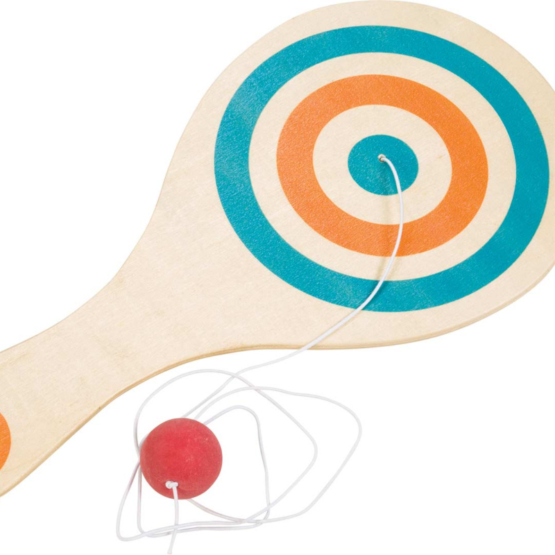 WOODEN PADDLE BALL,6472