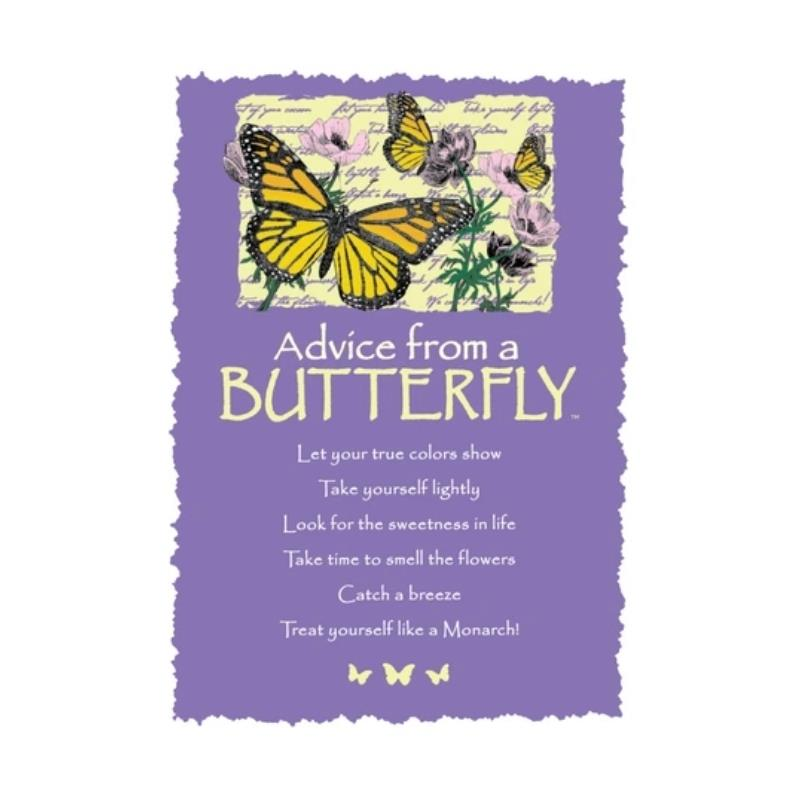 ADVICE BUTTERFLY POSTCARD,PCADVBTR12