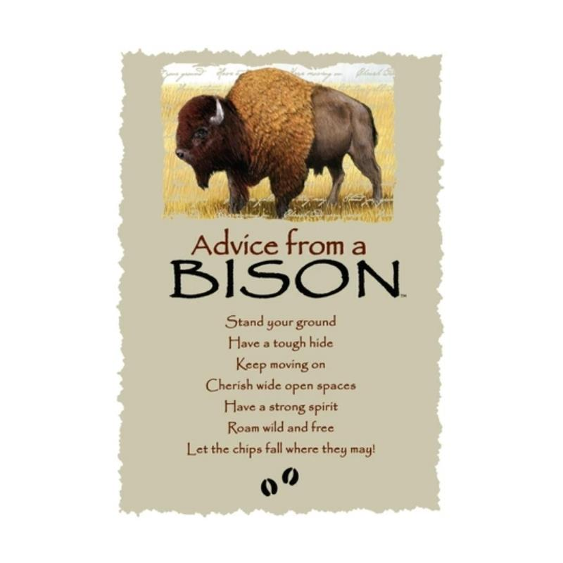 ADVICE BISON POSTCARD,PCADVBIS12