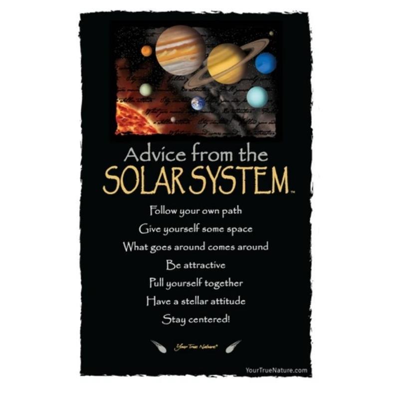 ADVICE SOLAR SYSTEM POSTCARD,PCADVSOLR12