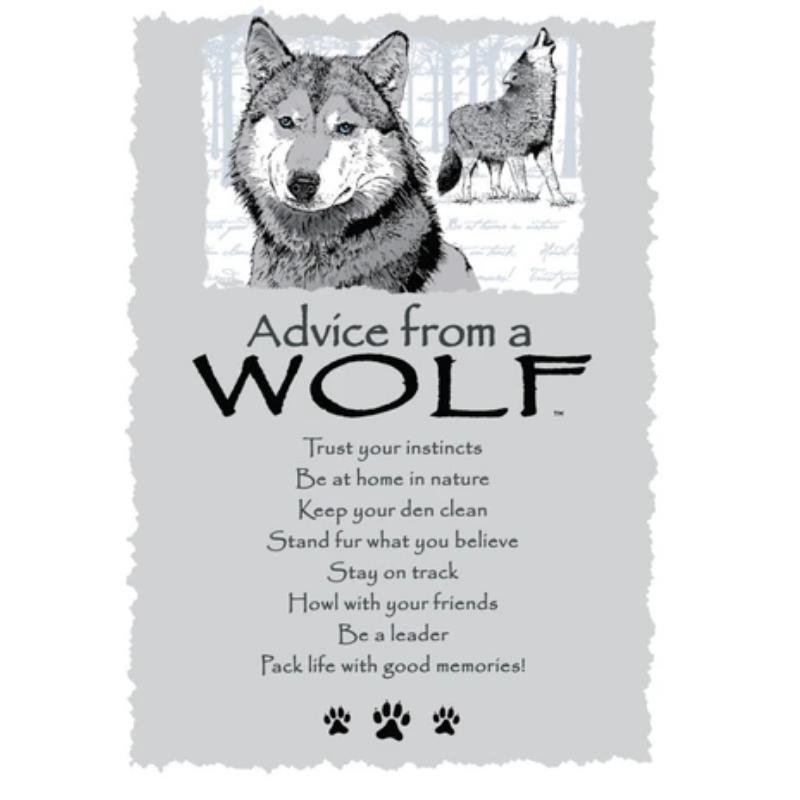 ADVICE WOLF POSTCARD,PCADVWOLF12