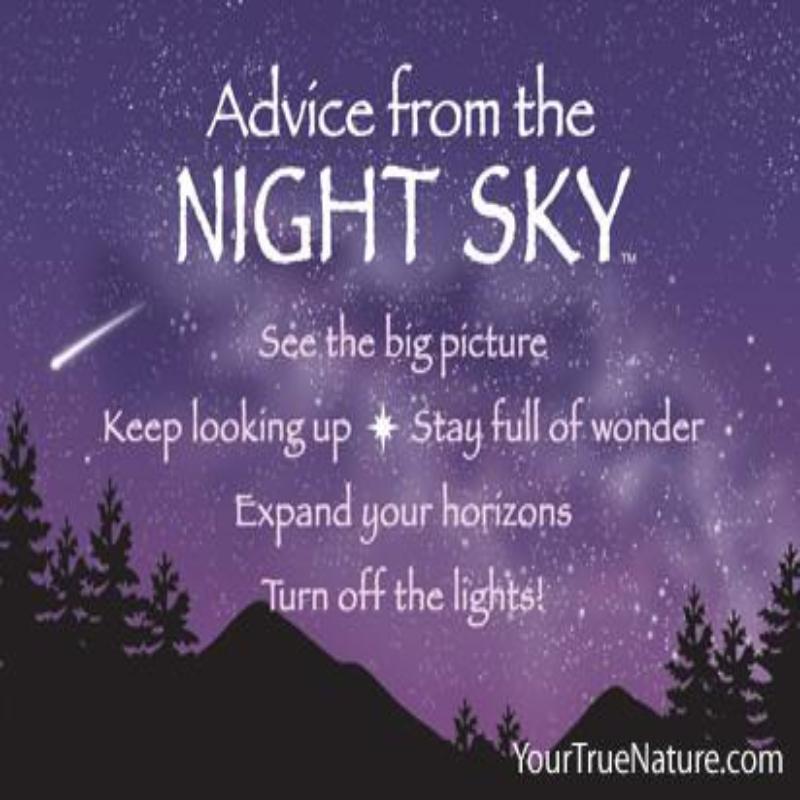 ADVICE NIGHT SKY MAGNET,MGADVNSKY6