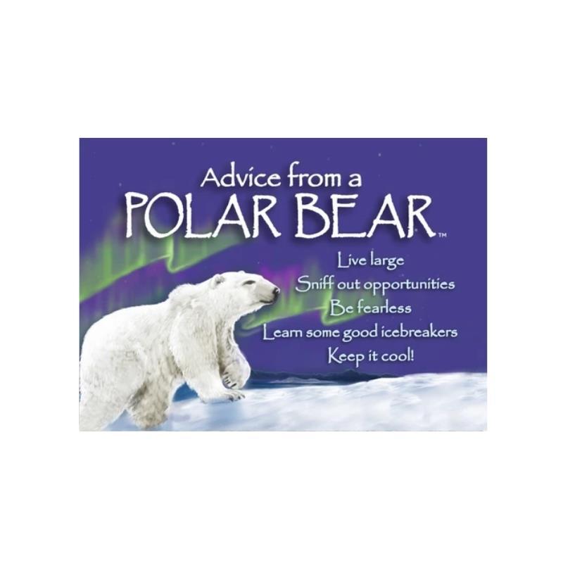 ADVICE POLAR BEAR MAGNET,MGADVPOLR6