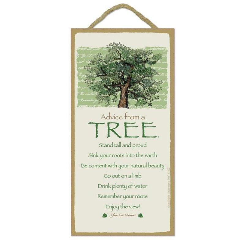 ADVICE TREE WOOD SIGN